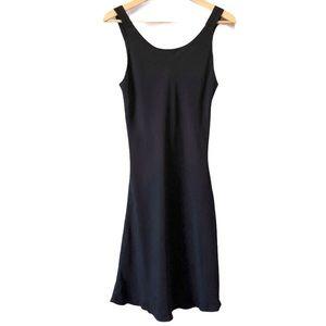 Black tank dress flare skirt